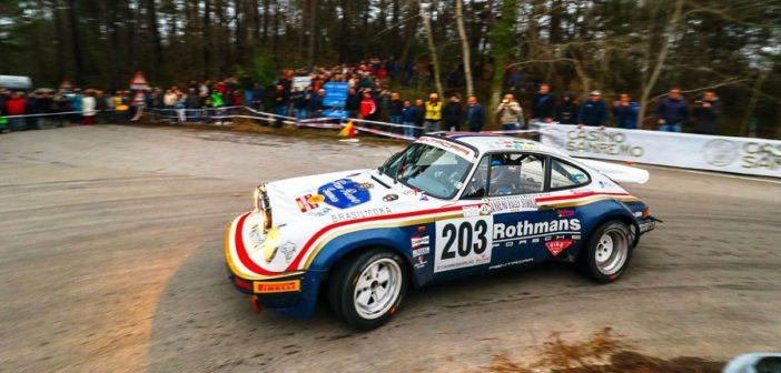 La Porsche  911 de Valtellinese in azione sulle strade del Sanremo