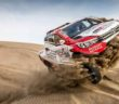 Il Toyota Hilux di De Villiers sulla sabbia delle dune Peruviane