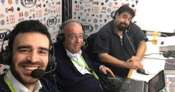 Gabriele Cogni, Marco Giordo e Lucio Rizzica negli studi di Fox Sports