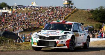 Andolfi con la sua Fabia targata Motorsport Italia incanta Panzerplatte