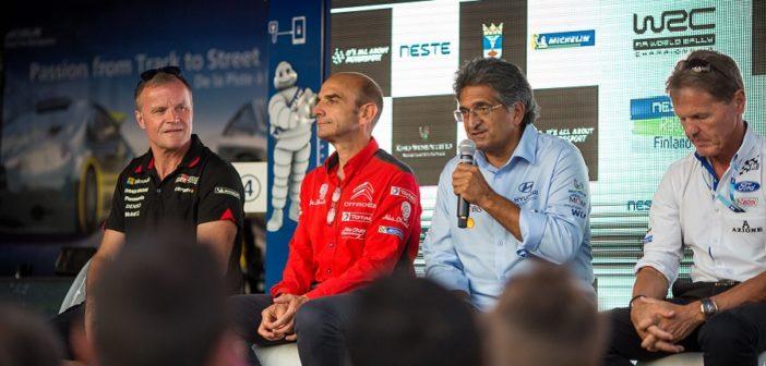 I boss delle quattro squadre attualmente impegnate nel WRC