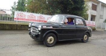 La Fiat 1100 di Bonfante in azione.
