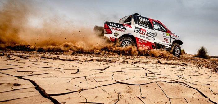 Nasser in azione nel deserto del Marocco.