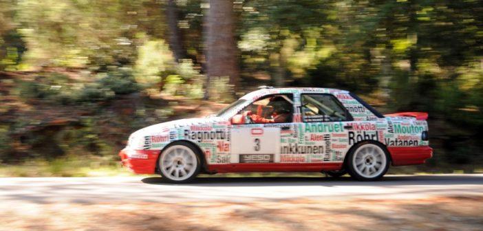 La Sierra Cosworth del vincitore sui budelli Corsi