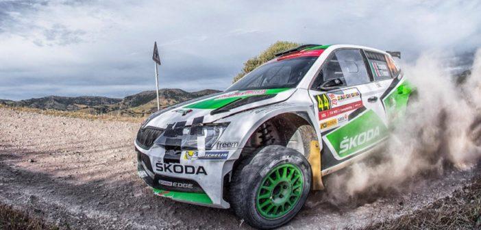 Scandola protagonista nel 2016 del WRC2 in Sardegna.