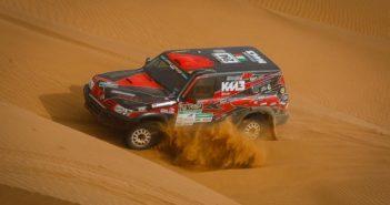 Stefano Rossi in azione sulla sabbia delle dune Marocchine
