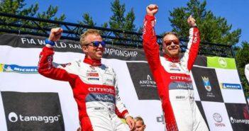 La forte coppia Norvegese alla festa del podio Finlandese.