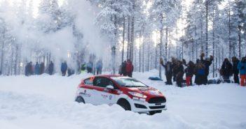 La Fiesta R2 di Oldrati nella sua uscita on ice di qualche giorno fa a Rovaniemi