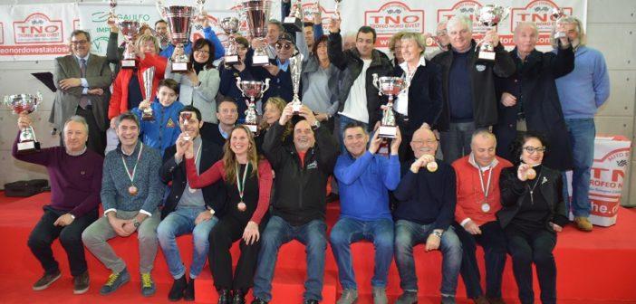 La foto di gruppo della premiazione del TNO
