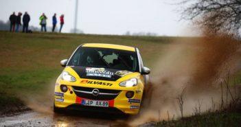 Pietarinen in azione con la sua Opel Adam