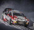 La Yaris WRC+ di Katsuta in azione all'Itaralli