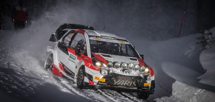 La Yaris WRC+ di Katsuta in azione all'Itaralli