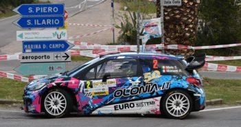 La Citroen DS3 WRC di Simone Miele ritorna a volare sulle strade Elbane