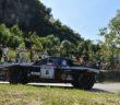 La Lancia Rally 037 del giovane Vicentino sulle strade del Campagnolo.
