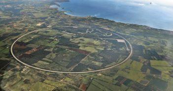 La nuova pista di Nardò vista dall'alto.
