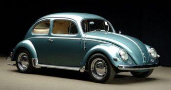 Il maggiolino icona storica del marchio Volkswagen.