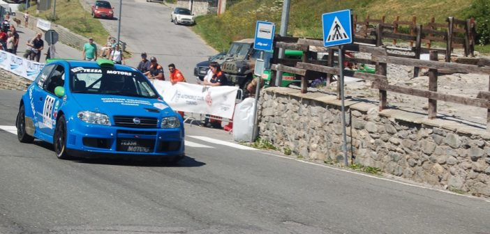 La Fiat Punto S1600 di Tessa in azione