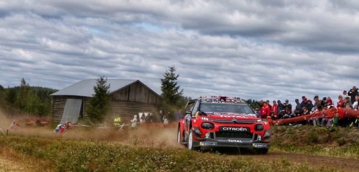 Ogier e la C3 plus sulle speciali del Finlandia (Photo Sophie Graillon)