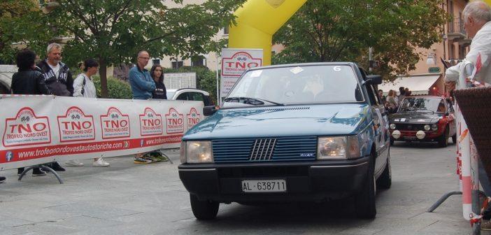 Il vincitore alla partenza della Coppa valle d'Aosta