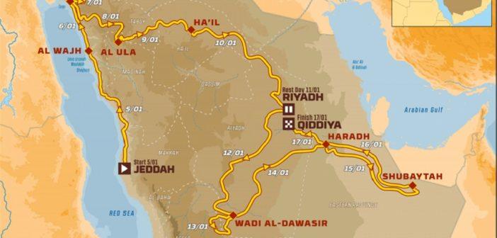 Il nuovo percosro della Dakar in terra di Arabia.