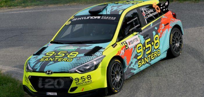 Ole Christian Veiby al rally di Alba una delle sue prime uscite al volante della Hyundai i20 R5
