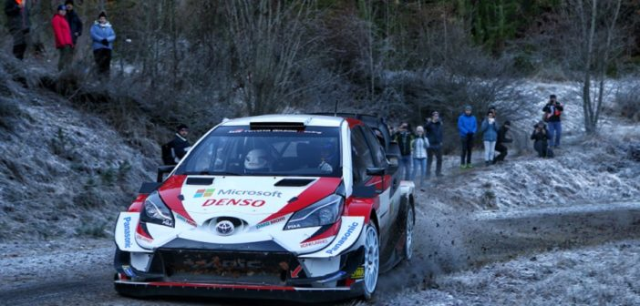 La Yaris di Ogier nei test pre montecarlo (Photo Sophie Grallion)