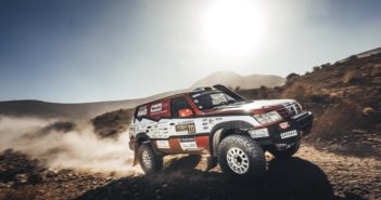 Il Patrol di Stefano Rossi sulle piste tra le creste del Marocco.