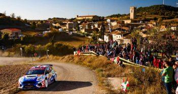 Adrien in azione sulle speciali del Catalunya con la New Fiesta R5