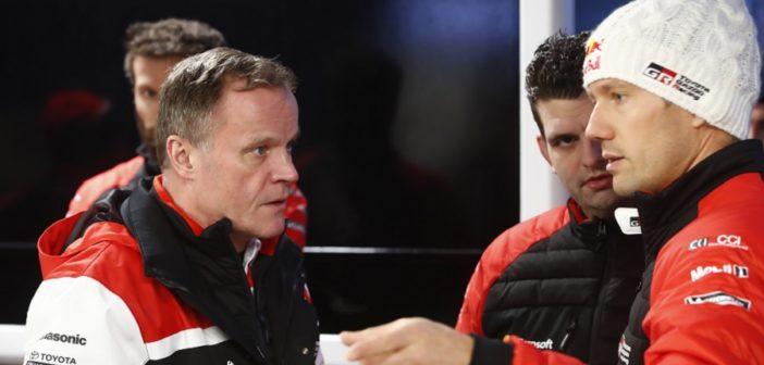 Tommi e Seb nelle fasi di gara del Montecarlo.