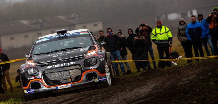 Lukyanuk nell'ultimo round Ungherese dell'ERC 2019.