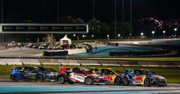 Il World RX 2019 nella notte di Abu Dhabi.
