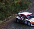 La Fiesta di Edwards vincitore del Cambrian rally primo round del campionato.