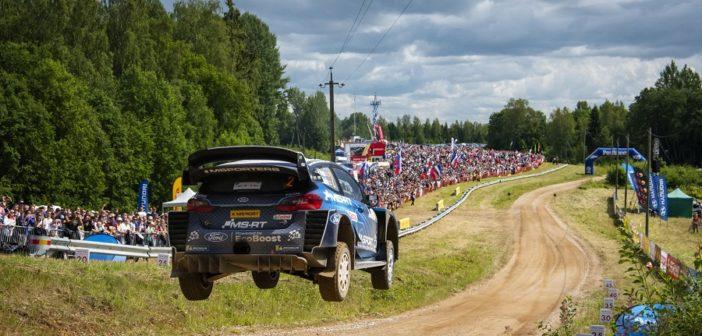 La Fiesta WRC di Evans sulle speciali Estoni che quest'anno esordiranno nel mondiale.