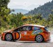 La Fiesta MK2 in versione Orange di Fourmaux in azione nello shakedown.