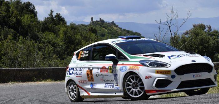 Emanuele Rosso nella seconda giornata mette le ali alla sua Fiesta RC4 #87