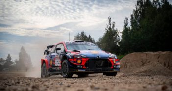 La Hyundai plus di Tanak vola sulle speciali South Estonia.