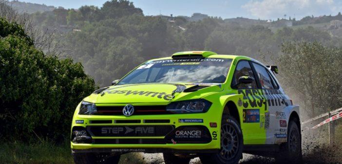 La Volkswagen Polo R5 di Campedelli sulle prove del San Marino.