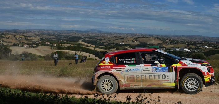 Paolo Andreucci-porta la Citroen C3 R5 al successo sulle colline che abbracciano Cingoli.