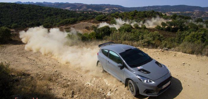 La Fiesta rally3 by M-Sport nella prima uscita in Sardegna. Foto Morittu.