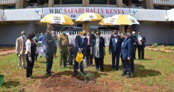 Todt a Nairobi presenzia alla prima piantumazione WRC Safari Rally Greening Legacy Project.